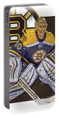 Tuukka Rask Boston Bruins Oil Art 1 Portable Battery Charger