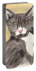 Tuxedo Cat With Attitude Portable Battery Charger