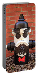 Portable Battery Charger featuring the photograph Tuxedo Hydrant by James Eddy