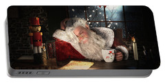 Portable Battery Charger featuring the digital art Twas The Night Before Christmas by Shanina Conway