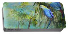 Two Pale-faced Rosellas Portable Battery Charger