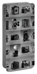 Twenty Old Cameras - Black And White Portable Battery Charger