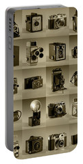 Twenty Old Cameras - Sepia Portable Battery Charger