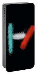 Twenty One Pilots Black Abstract Portable Battery Charger by Keshava Shukla
