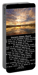 Twenty-third Psalm Prayer Portable Battery Charger