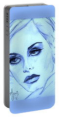 Twiggy In Blue Portable Battery Charger