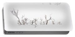 Twigs In Snow Portable Battery Charger