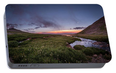 Portable Battery Charger featuring the photograph Twilight Alpine Stream by Chris Bordeleau