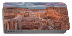 Twilight At Chocolate Falls Portable Battery Charger by Tom Kelly