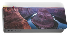 Twilight At Horseshoe Bend Portable Battery Charger by JR Photography