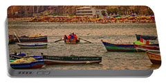 Portable Battery Charger featuring the photograph Twilight At The Beach, Miraflores, Peru by Mary Machare