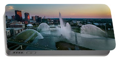 Twilight At The Fountains Portable Battery Charger