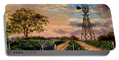 Twilight At The Vineyard Portable Battery Charger