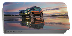 Twilight Beach Reflections And 4wd Car Portable Battery Charger