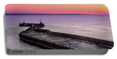 Twilight, Burghead Harbour Portable Battery Charger