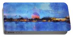 Twilight Epcot World Showcase Lagoon Wdw 02 Photo Art Mp Portable Battery Charger