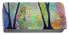 Portable Battery Charger featuring the painting Twilight I by Shadia Derbyshire
