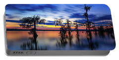 Twilight On Lake Martin Swamp Portable Battery Charger