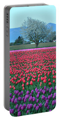 Twilight In Skagit Valley Portable Battery Charger