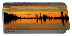 Twilight Lake Reflections In Colorado Portable Battery Charger