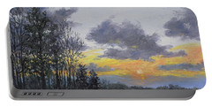 Twilight Meadow Portable Battery Charger by Kathleen McDermott