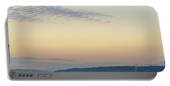 Twilight Moment In Puget Sound Portable Battery Charger