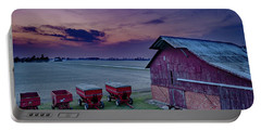 Twilight On The Farm Portable Battery Charger