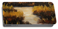 Twilight On The Marsh By Prankearts Portable Battery Charger
