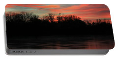 Portable Battery Charger featuring the photograph Twilight On The River by Chris Berry