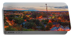 Twilight Panorama Of Downtown Santa Fe From Cross Of The Martyrs - New Mexico  Portable Battery Charger