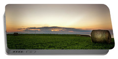 Portable Battery Charger featuring the photograph Twilight Prince Edward Island Fields by Chris Bordeleau