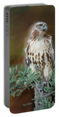 Portable Battery Charger featuring the painting Twilight Sentinel by Phyllis Beiser