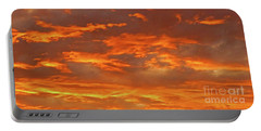 Twilight Sky Portable Battery Charger by Val Miller