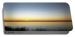 Twilight Stillness Down By The Beach Lagoon Portable Battery Charger