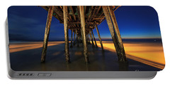 Twilight Under The Imperial Beach Pier San Diego California Portable Battery Charger by Sam Antonio Photography