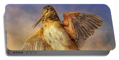 Twilight Woodcock Rising Portable Battery Charger by R christopher Vest
