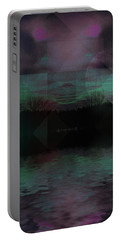 Portable Battery Charger featuring the digital art Twilight Zone by Mimulux patricia no No