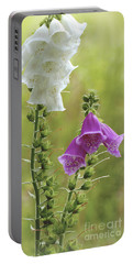 Twin Foxgloves Portable Battery Charger