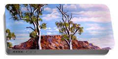 Twin Ghost Gums Of Central Australia Portable Battery Charger