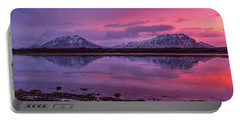 Portable Battery Charger featuring the photograph Twin Mountain Sunrise by Pradeep Raja Prints