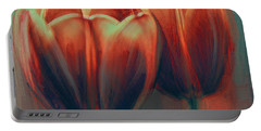 Twin Tulips Portable Battery Charger