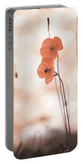 Twins Aliens. Orange Poppies Portable Battery Charger