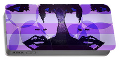 Twins In Purple Portable Battery Charger
