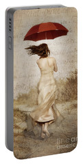Twirling Painted Lady Portable Battery Charger
