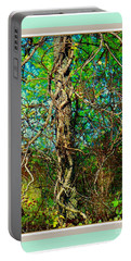 Portable Battery Charger featuring the photograph Twisted Branches by Shirley Moravec