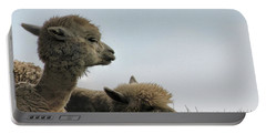 Two Alpaca Portable Battery Charger by Pat Cook