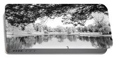 Portable Battery Charger featuring the photograph Two At The Pond by Karol Livote