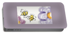Two Bees Or Not Two Bees Portable Battery Charger by Jason Nicholas