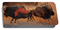 Two Bisons Running Portable Battery Charger