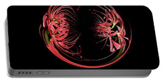 Two Blossom Red Spider Lily Orb Portable Battery Charger